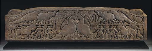An Orissa carved wood panel, 18th Century