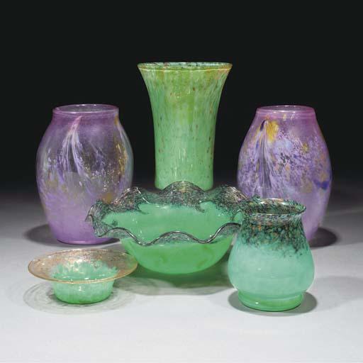 A Pair of Monart MF Vases