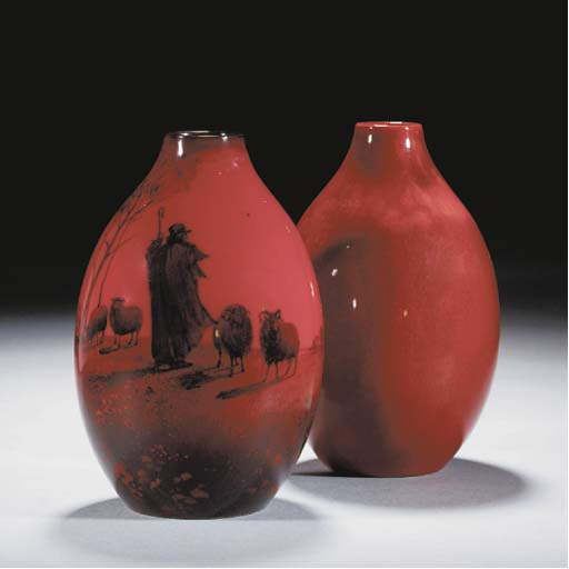 A Royal Doulton Flambe Vase