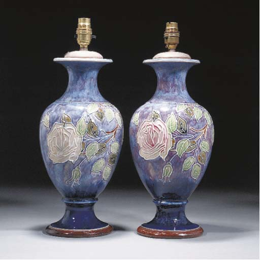 A Pair of Doulton Vases