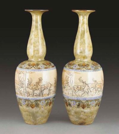 A Pair of Royal Doulton Vases