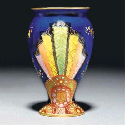 A Carlton Ware Fan 3557 Vase