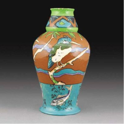 A Foley Intarsio Vase