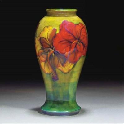 A Moorcroft Hibiscus Flambe Lu