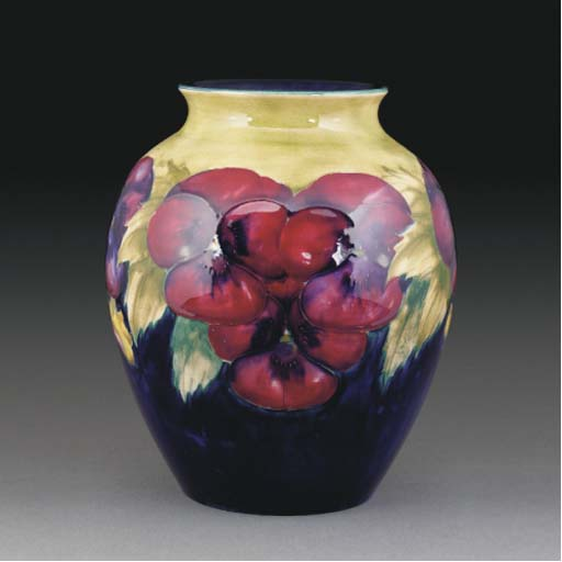 A Moorcroft Pansy Vase