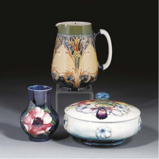 A Moorcroft Orchid Powder Bowl