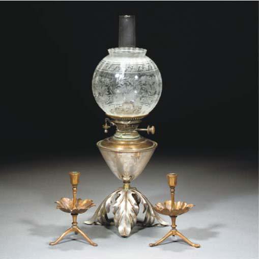 A WAS Benson Copper Lamp