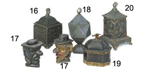 A Regency lead tobacco jar