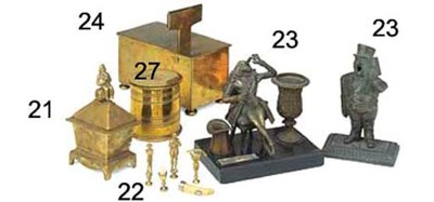 A quantity of Victorian brass