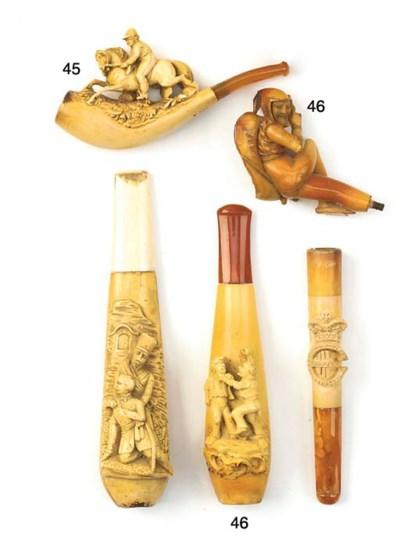 Three meerschaum cigarette and