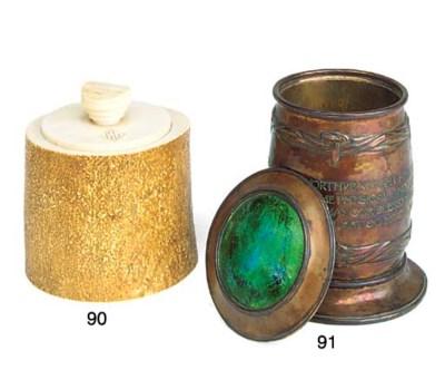 An ivory tobacco jar