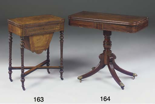 A Victorian walnut and crossba