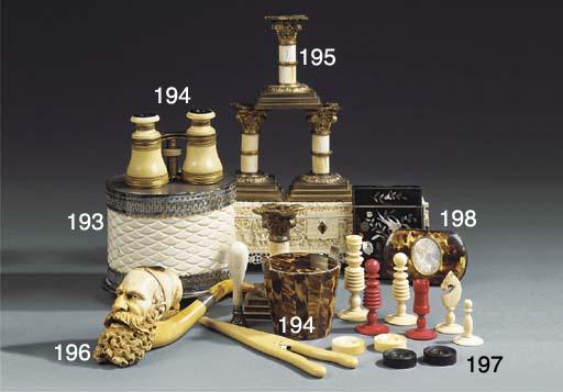 A set of four gilt metal and i