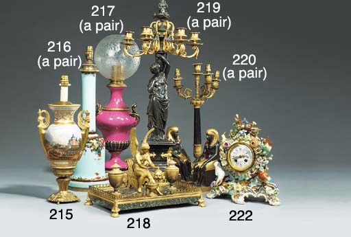 A French ormolu mounted varieg