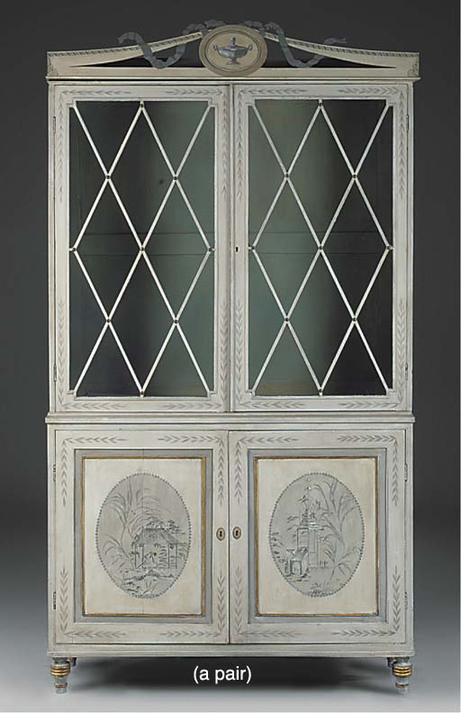 A PAIR OF LIBRARY BOOKCASES