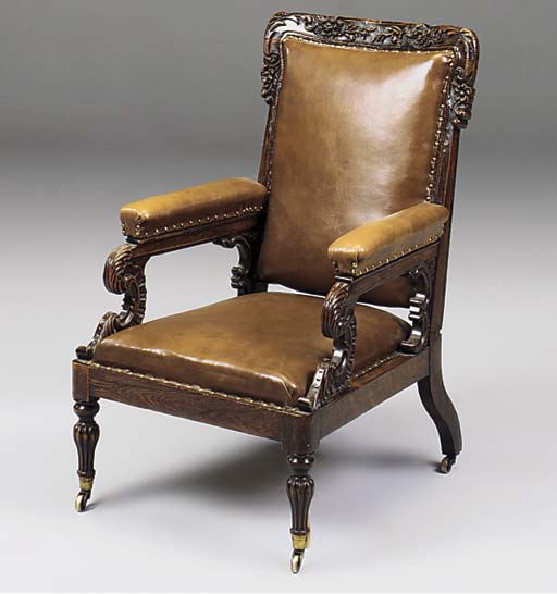 AN EARLY VICTORIAN GRAINED ROS