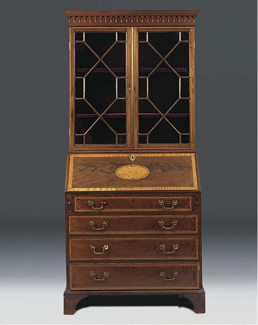 An Edwardian inlaid and satinw