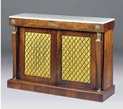 A REGENCY ROSEWOOD AND GILT ME