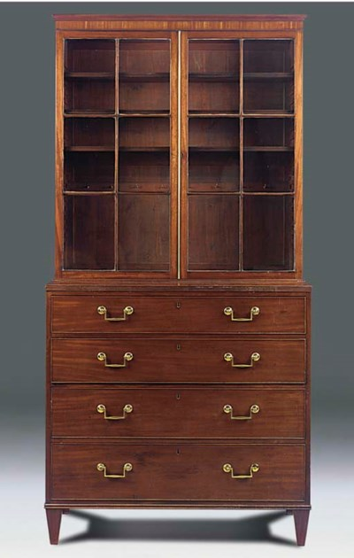 A mahogany bookcase