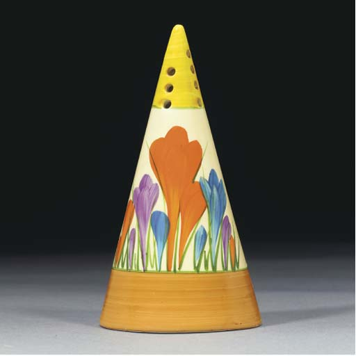 A Crocus Conical Sugar Sifter