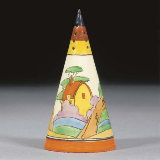 AN ORANGE ROOF COTTAGE CONICAL