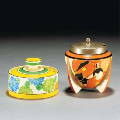 An Orange Chintz Preserve Pot