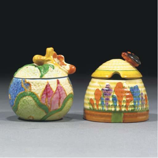 A Crocus Honey Pot and Cover