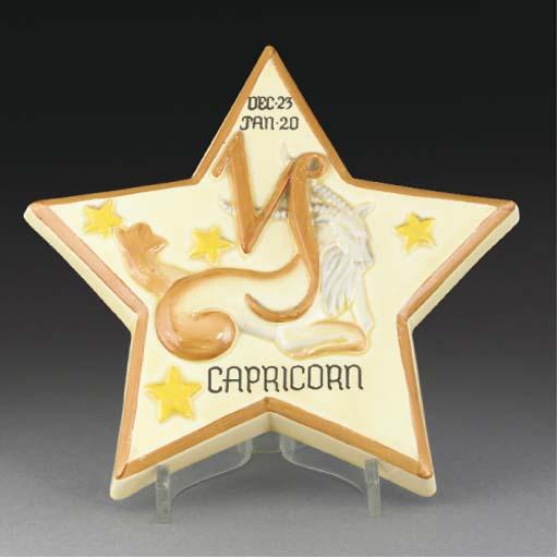 A Capricorn Zodiac Wall Plaque