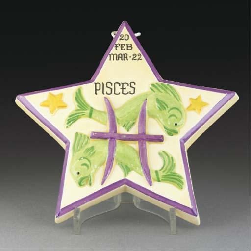 A Pisces Zodiac Wall Plaque