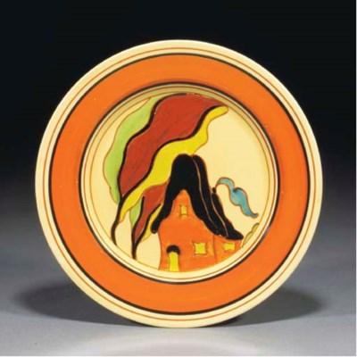 An Orange House Plate