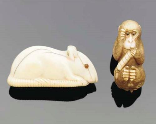 Two Japanese ivory netsuke, 19