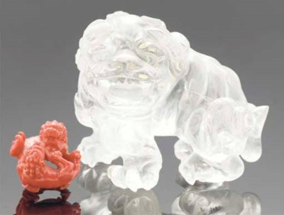 A Chinese rock crystal carving