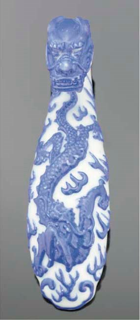 A Chinese porcelain moulded bu