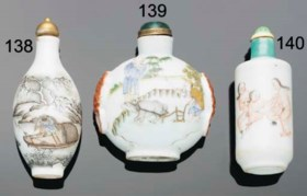 A Chinese porcelain snuff bottle, Daoguang mark and of the p