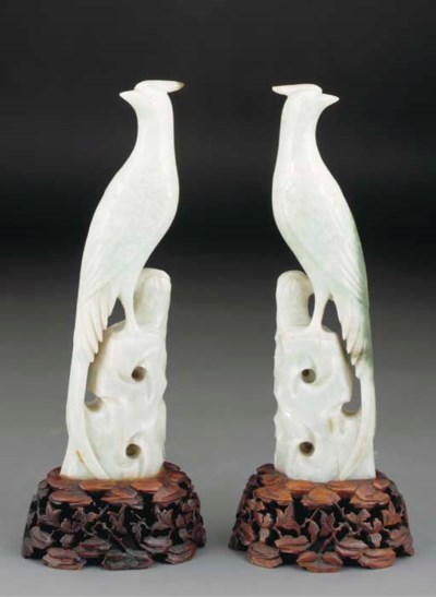 A pair of Chinese jadeite mode