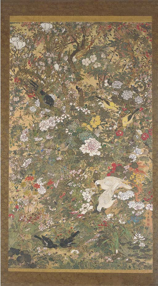 A large Japanese painting, 19t