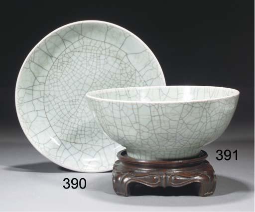 A Chinese Geyao-style celadon
