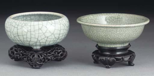 A Chinese Geyao-style bowl, 18