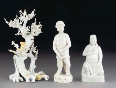 A Chinese blanc de chine figur