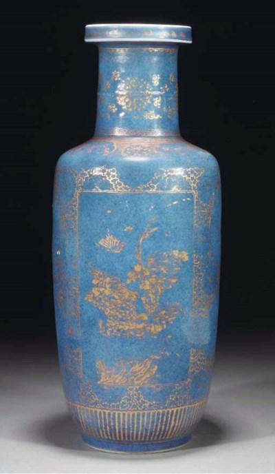 A Chinese powder blue ground r