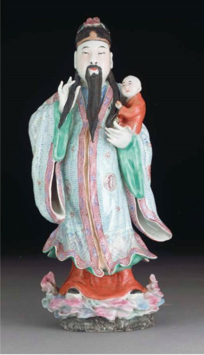 A Chinese famille rose figure