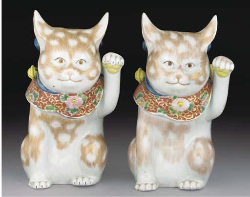 A pair of Japanese kutani mode