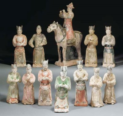 A group of ten Ming pottery fi