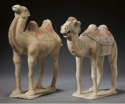 A pair of pottery models of ca