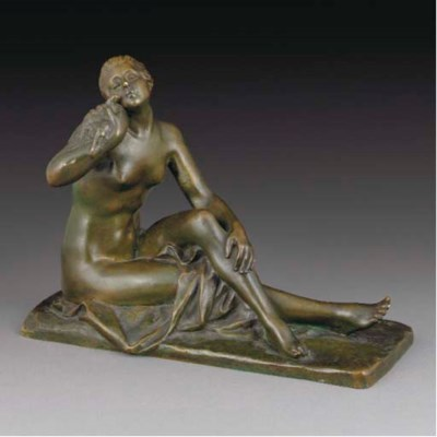 A green-patinated bronze