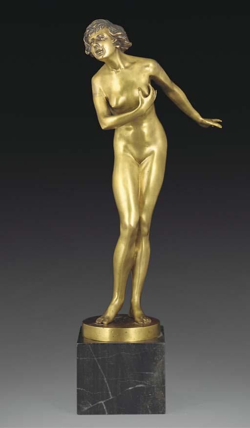 A bronze figure