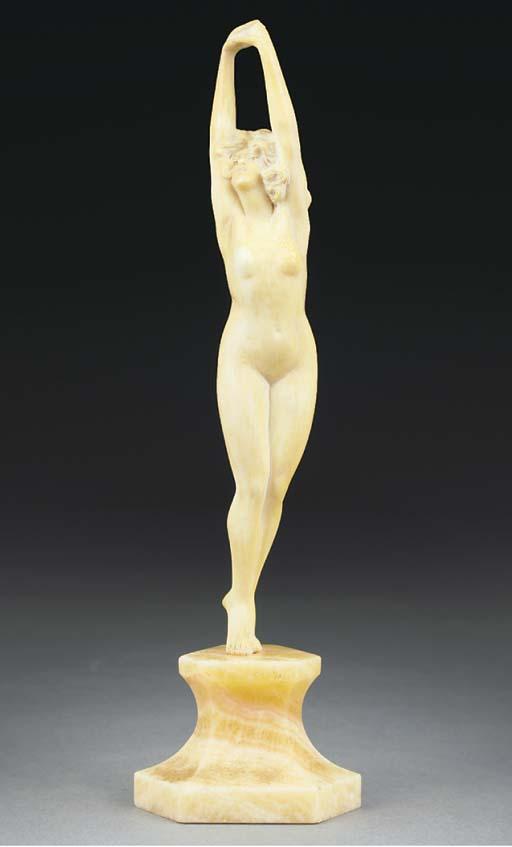 'Dawn' an ivory figure