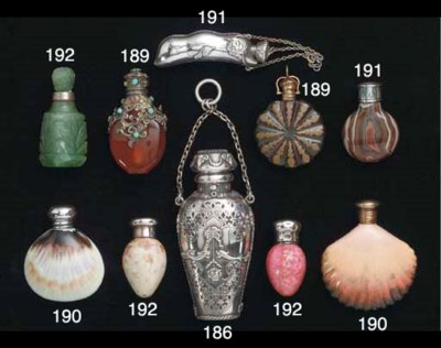 A group of scent bottles
