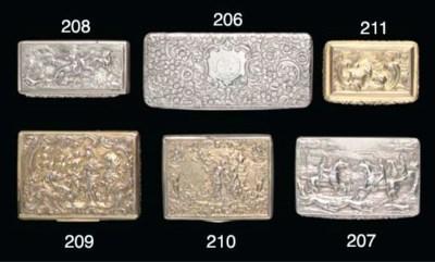A George IV silver-gilt snuff