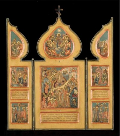 A triptych with the Ressurecti